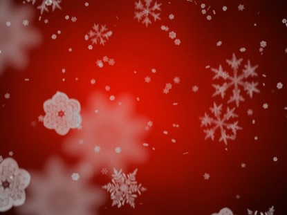 RED WRAPPING PAPER SNOWFLAKES MOTION