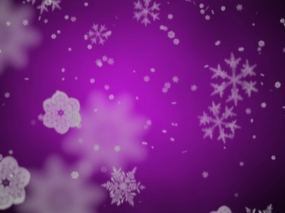 SNOWFLAKES ON ROYAL PURPLE MOTION