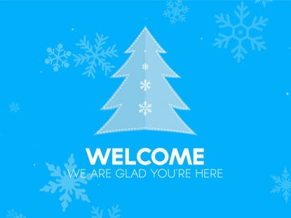 CHRISTMAS SNOW WELCOME