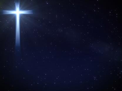 SIMPLE CROSS ON STARS