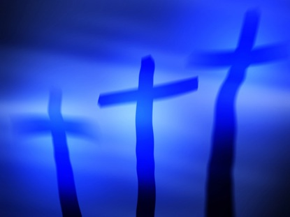 THREE BLUE CROSSES