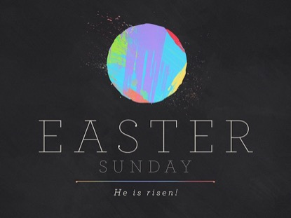 PAINT STROKE EASTER SUNDAY
