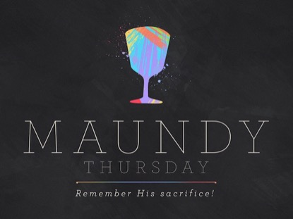 PAINT STROKE MAUNDY THURSDAY