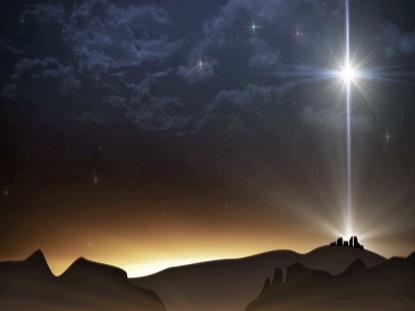 BETHLEHEM CHRISTMAS STAR RIGHT LANDSCAPE