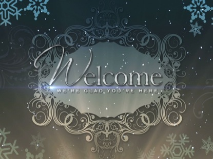 CHRISTMAS BACKGROUND ELEGANCE WELCOME