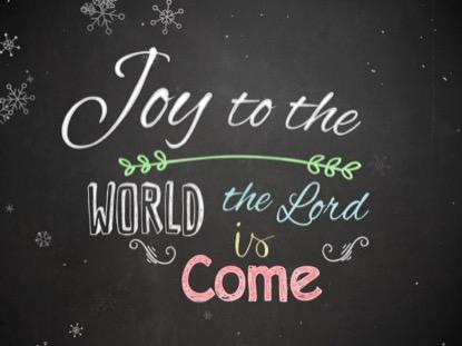 CHRISTMAS CHALK JOY