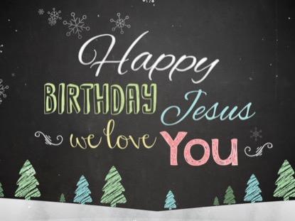 CHRISTMAS CHALK KIDS HAPPY BIRTHDAY JESUS