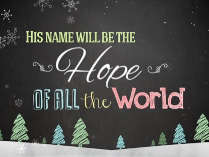 CHRISTMAS CHALK KIDS HOPE
