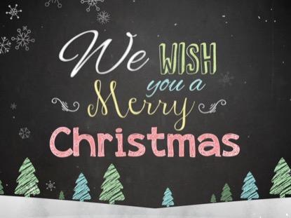 CHRISTMAS CHALK KIDS MERRY CHRISTMAS