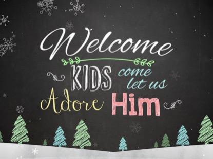 CHRISTMAS CHALK KIDS WELCOME