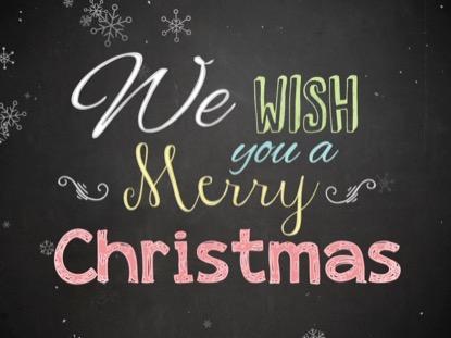 CHRISTMAS CHALK MERRY CHRISTMAS