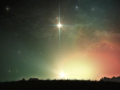 CHRISTMAS NATIVITY SMALL STAR LANDSCAPE
