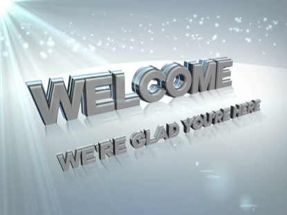 CLEAN WHITE WELCOME ANIMATED