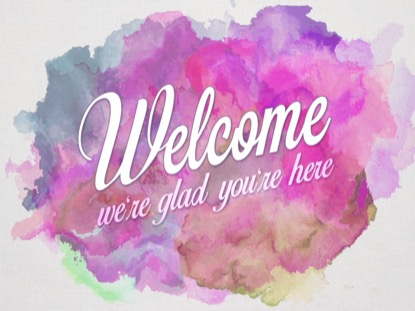 EASTER WATERCOLOR WELCOME