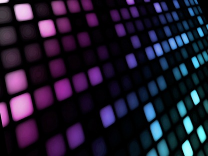 LED WALL PURPLE BLUE