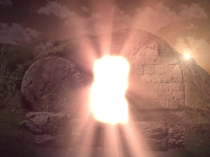 EASTER RISEN 8 TOMB LIGHT