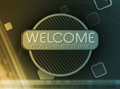 RETRO SQUARES WELCOME
