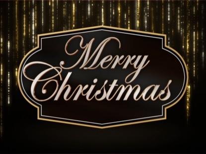 SPARKLING TINSEL MERRY CHRISTMAS