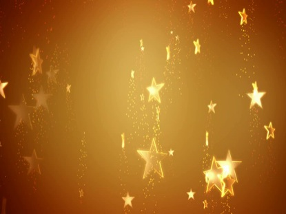 STARS ON GOLD BACKGROUND 02
