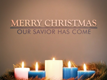 ADVENT WREATH BLUE MERRY CHRISTMAS