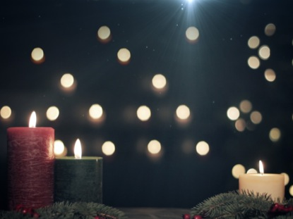 CHRISTMAS CANDLES BOKEH NIGHT