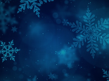 CHRISTMAS GLOW SNOWFLAKES BLUE FAST