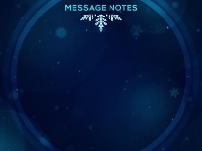 CHRISTMAS GLOW SNOWFLAKES MESSAGE NOTES