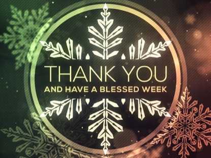 CHRISTMAS GLOW SNOWFLAKES THANK YOU