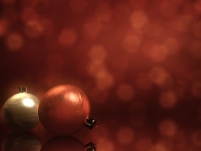 CHRISTMAS ORNAMENTS BOKEH RED