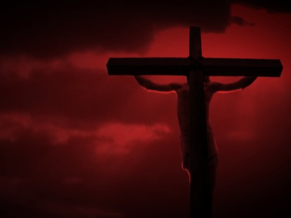 CRUCIFIXION RED SKY