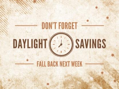 DAYLIGHT SAVINGS FALL GRUNGE