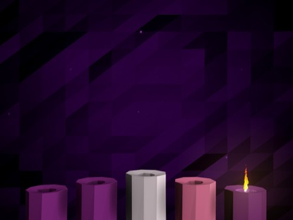 DIGITAL ADVENT CANDLES WEEK 1