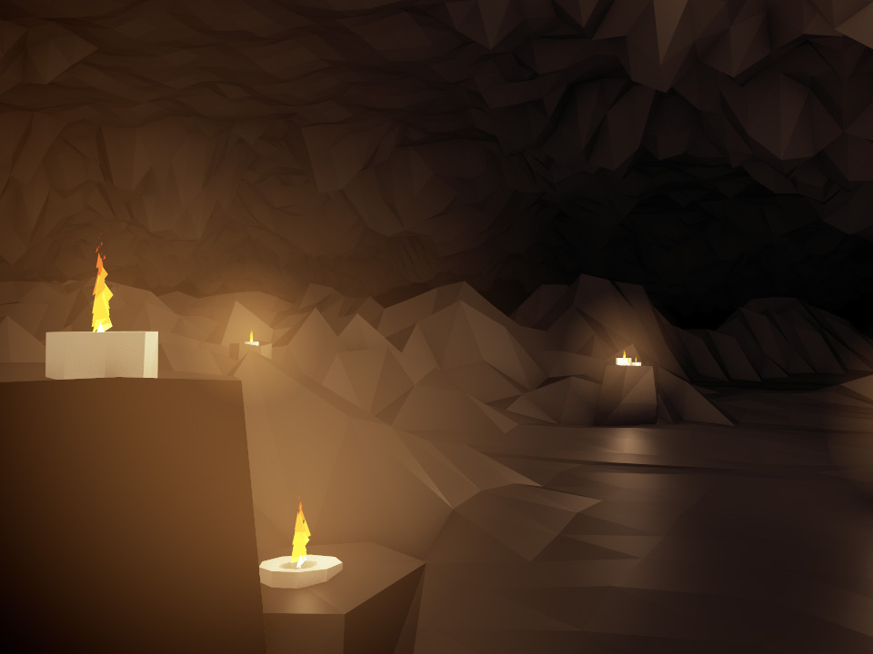 DIGITAL MOUNTAINS CAVE CANDLES