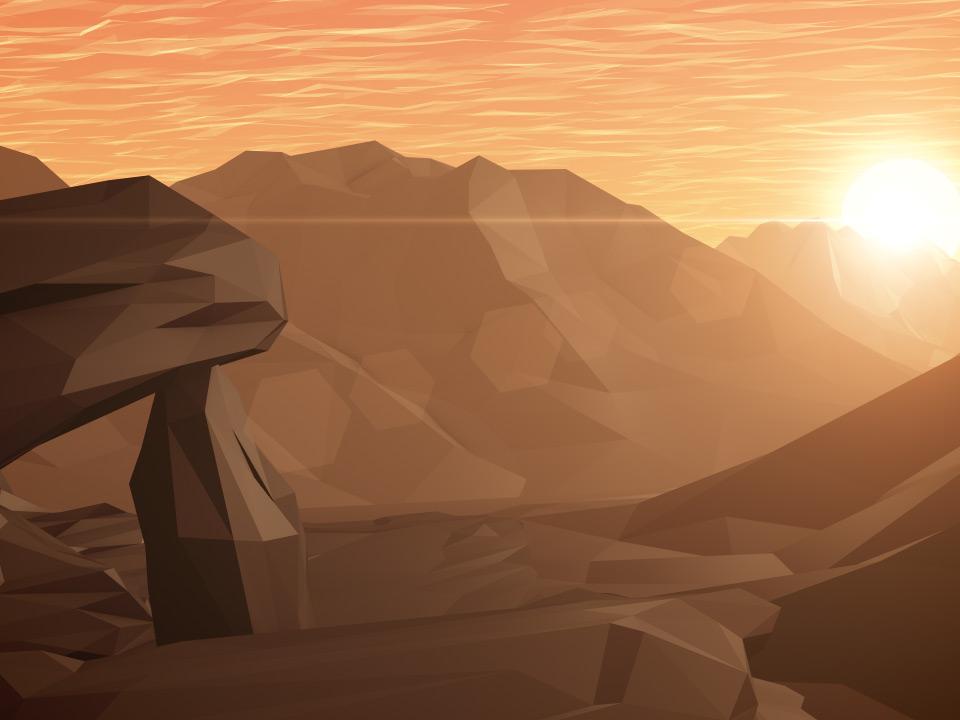 DIGITAL MOUNTAINS MORNING ROCKS