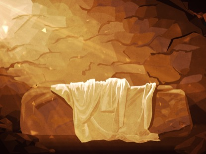 EASTER ARTWORK TOMB CLOTH