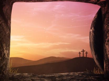 EASTER SUNRISE TOMB CROSSES