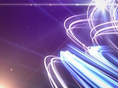 LIGHT STREAKS AND STARS PURPLE BLUE