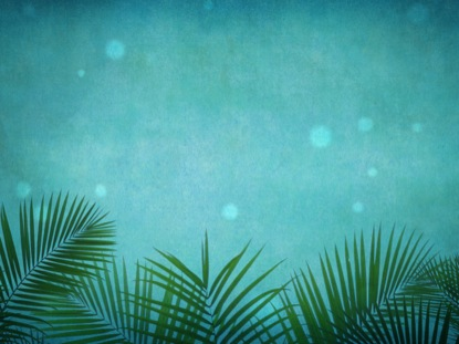 Palm Sunday Grunge Blue