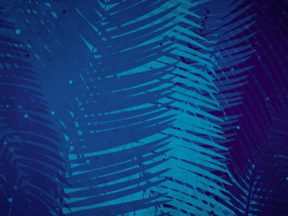 PALM SUNDAY WATERCOLORS BLUE