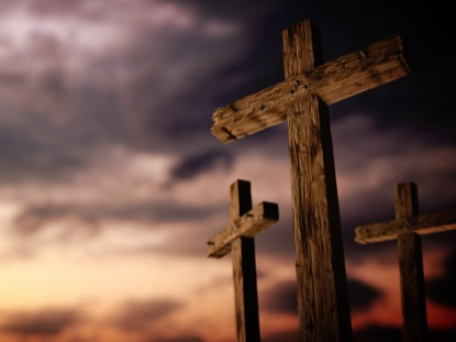 Rugged Cross Calvary Sunset