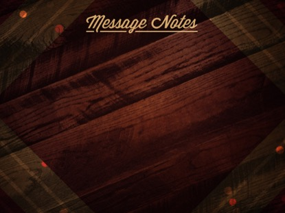 RUSTIC WOOD MESSAGE NOTES