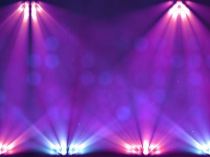 STAGE LIGHTS PURPLE SLOW