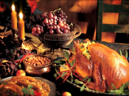 Thanksgiving Dinner Rustic