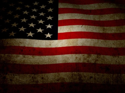 US FLAG WITH GRUNGE TEXTURE