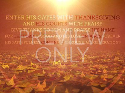 VINTAGE THANKSGIVING SCRIPTURE