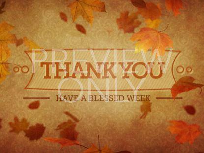VINTAGE THANKSGIVING THANK YOU