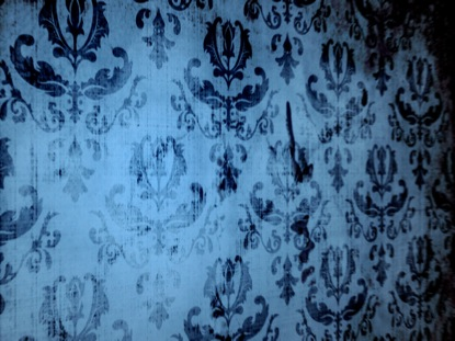 VINTAGE WALLPAPER BLUE