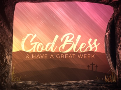 VIVID FIBERS EASTER GOD BLESS