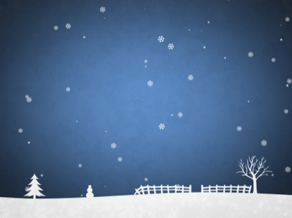 WINTER SNOW BLUE SCROLLING
