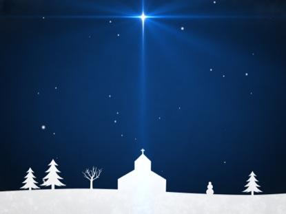 WINTER SNOW BLUE STAR